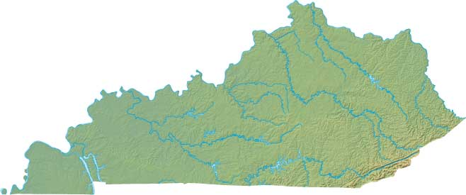 Kentucky relief map